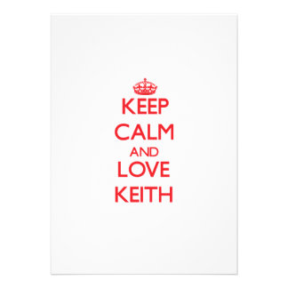 Keep calm and love Keith Invitations