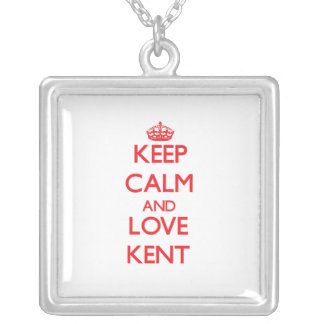Keep calm and love Kent Personalized Necklace