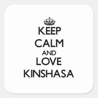 Keep Calm and love Kinshasa Square Sticker
