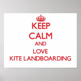 Keep calm and love Kite Landboarding Posters