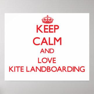 Keep calm and love Kite Landboarding Print