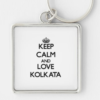Keep Calm and love Kolkata Key Chains