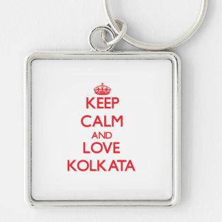 Keep Calm and Love Kolkata Keychains