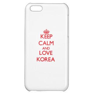 Keep Calm and Love Korea iPhone 5C Cover
