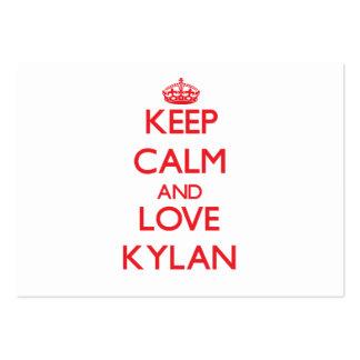 Keep Calm and Love Kylan Business Card Templates