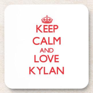 Keep Calm and Love Kylan Drink Coasters