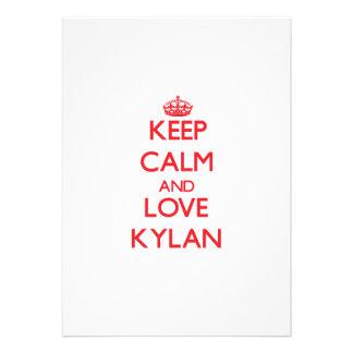 Keep Calm and Love Kylan Custom Announcement
