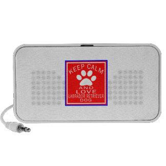 Keep Calm And Love Labrador Retriever Notebook Speaker