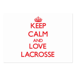 Keep calm and love Lacrosse Business Cards