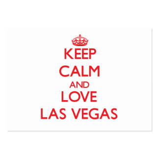 Keep Calm and Love Las Vegas Pack Of Chubby Business Cards
