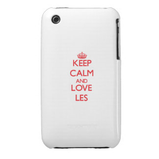 Keep Calm and Love Les iPhone 3 Covers