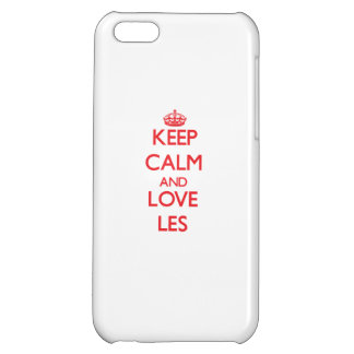 Keep Calm and Love Les iPhone 5C Covers