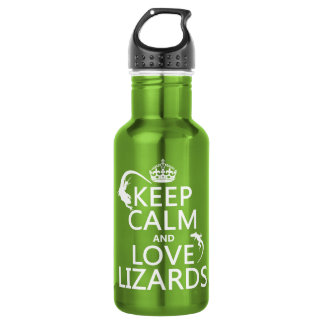 Keep Calm and Love Lizards - all colors 532 Ml Water Bottle