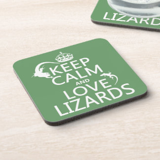 Keep Calm and Love Lizards - all colors Coaster