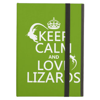 Keep Calm and Love Lizards - all colors Cover For iPad Air