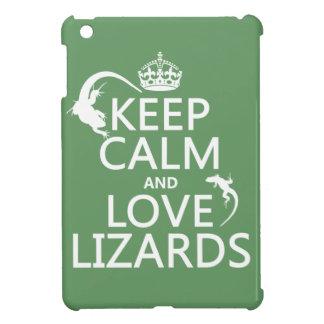 Keep Calm and Love Lizards - all colors iPad Mini Case