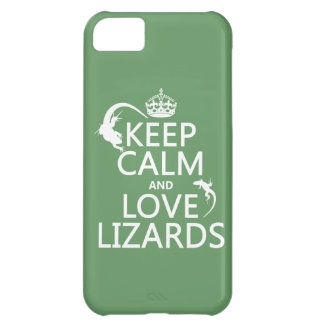 Keep Calm and Love Lizards - all colors iPhone 5C Case