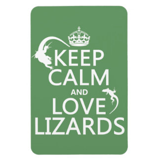 Keep Calm and Love Lizards - all colors Magnet