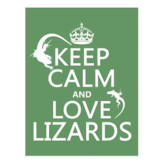 Keep Calm and Love Lizards - all colors Postcard