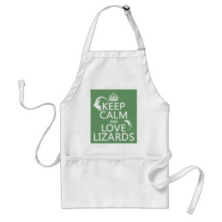 Keep Calm and Love Lizards - all colors Standard Apron