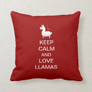 Keep Calm and Love Llamas Cushion