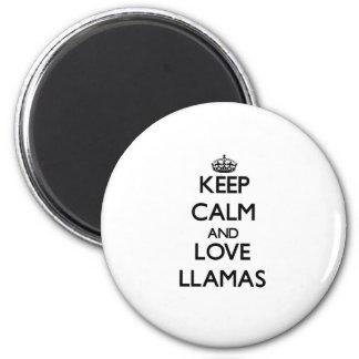 Keep calm and Love Llamas Magnet