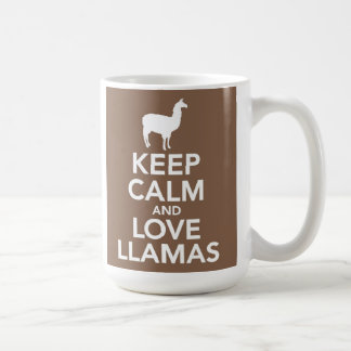 Keep Calm and Love Llamas mug