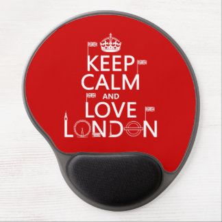 Keep Calm and Love London (any background color) Gel Mouse Pad