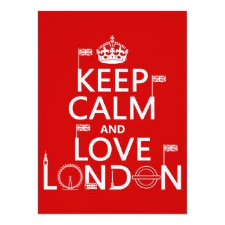 Keep Calm and Love London Card