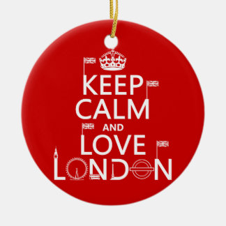 Keep Calm and Love London Christmas Ornament