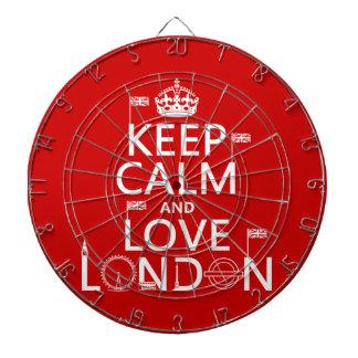 Keep Calm and Love London Dartboard