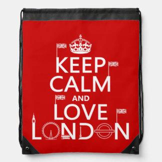 Keep Calm and Love London Drawstring Bag
