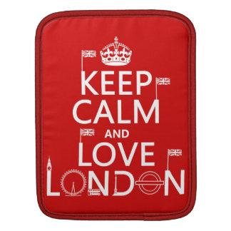 Keep Calm and Love London iPad Sleeve