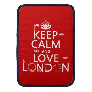 Keep Calm and Love London Sleeve For MacBook Air
