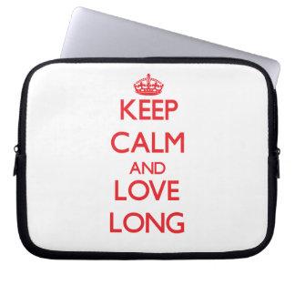 Keep calm and love Long Computer Sleeves