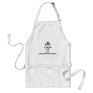 Keep calm and love Long Distance Running Adult Apron