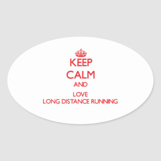 Keep calm and love Long Distance Running Stickers