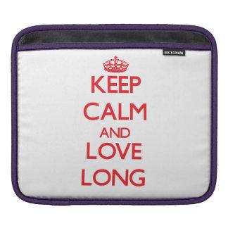 Keep calm and love Long Sleeve For iPads