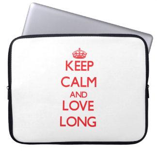 Keep calm and love Long Laptop Sleeve