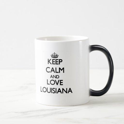 Keep Calm and Love Louisiana Coffee Mug