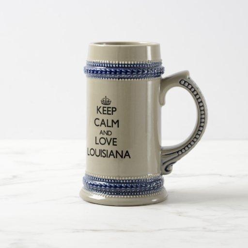 Keep Calm and Love Louisiana Coffee Mugs