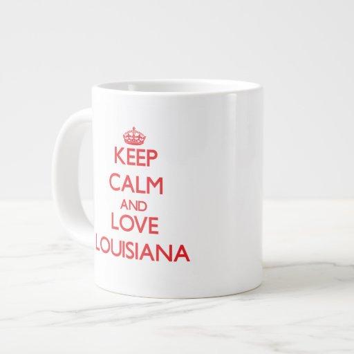 Keep Calm and Love Louisiana Extra Large Mugs