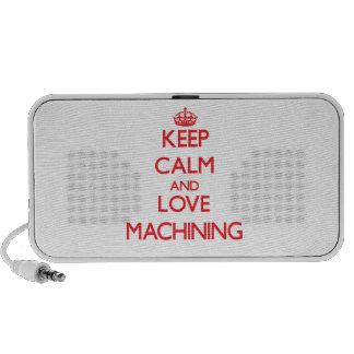 Keep calm and love Machining Notebook Speaker