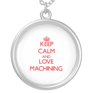 Keep calm and love Machining Personalized Necklace