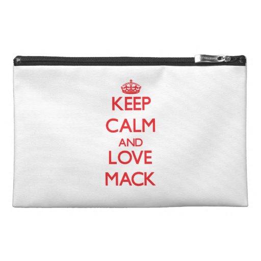 Keep calm and love Mack Travel Accessory Bag