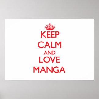 Keep calm and love Manga Posters
