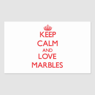 Keep calm and love Marbles Rectangle Stickers