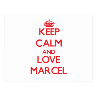 Keep Calm and Love Marcel Postcards
