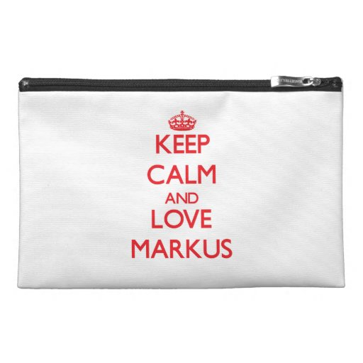 Keep Calm and Love Markus Travel Accessories Bags