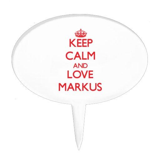 Keep Calm and Love Markus Cake Picks